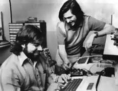 Wozniak & Jobs devant leur Apple ][